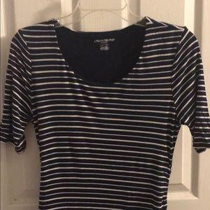 Striped maternity dress short sleeve